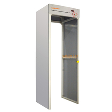 Temperature measuring metal detection door